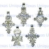 Coptic Christian Cross Pendant (Lot of 5)
