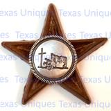Western Decor Cowboy Church Star Magnet