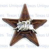 Western Decor Cowboy Bull Rider Star Magnet
