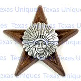 INDIAN CHIEF HEAD DRESS STAR MAGNET