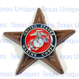 MILITARY MAGNET UNITED STATES MARINE CORPS ENAMEL COLORS