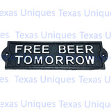 Wall Signs & Plaques FREE BEER TOMORROW Rustic Decor