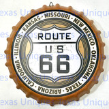 Retro Style Decorative Metal Route 66 Wall Hanging Bottle Cap