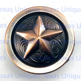 Star Concho Antique Copper Finish