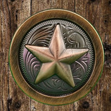 Star Antique Copper Finish Cabinet Knob - Front View