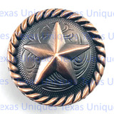 Star  Antique Copper Finish Cabinet Knob With Rope Trim