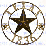 Decorative 26 Inch Texas 1836 Star Rope Trim Wall Art