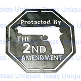 Protected By 2nd Amendment Metal Plaque