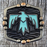 American Southwest Thunderbird 1-1/4 Inch Concho With Turquoise