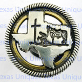 Western Decor Cowboy Church Knobs