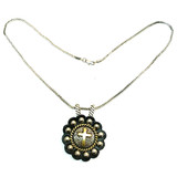Western Cross Pendant With Chain