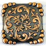 Yuma Square Concho Antique Copper Finish 1-1/4 Inch