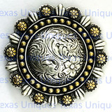 Buy Engraved Rose Berry Concho at TexasUniques Online Store