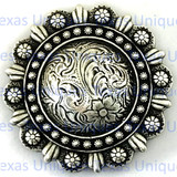 Buy Engraved Rose Berry Saddle Concho at TexasUniques Online Store