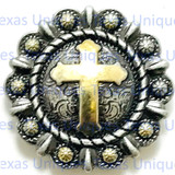 Cross Berry Antique Finish Gothic Concho