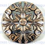 Baroque Floral Copper Finish Concho