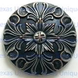 Baroque Floral Nickel Finish Concho