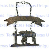 Cowboy Church Metal Welcome Plaque