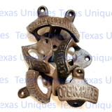 Wall Mount Open Here Brown Finish Opener Old Fashion Look (Lot of 10)