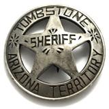 Tombstone Arizona Territorial Sheriff Badge