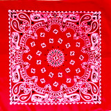 Red Paisley Bandanas Western Decor