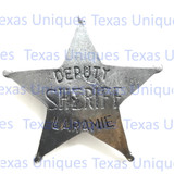 Old West Deputy Sheriff Laramie Badge