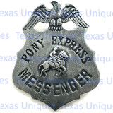 Pony Express Messenger Historical Badge