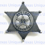 Old West Brothel Inspector Badge