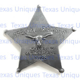 Old West Special Ranger Texas & S.W. Cattle Raisers ASSOC. Badge