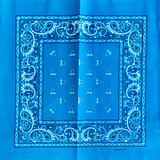 Turquoise Paisley Bandana
