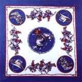 Rodeo Bandana Blue Western Saddle Bronc