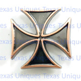 Copper Finish Maltese Cross Concho