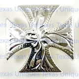 Maltese Cross Silver Finish Concho