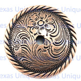 Floral Rope Edge 2-1/4 Inch Concho
