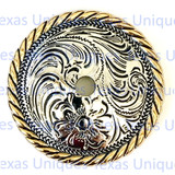 Floral Rope Edge Rosette Concho