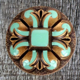 Turquoise San Marcos 1-1/2 Inch Concho front view