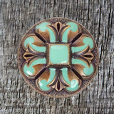 Turquoise San Marcos 1-1/4 Inch Concho