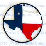 Texas Metal Art State Of Texas 9 Inch