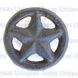 Cast Iron Brown Star In Circle With Nail