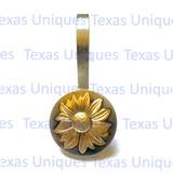Golden Flower Concho Shower Hooks