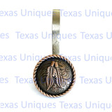 Rope Edge Feather Concho Shower Hooks
