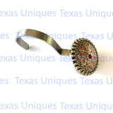 Flower Concho Silver With Red cabochon Shower Curtian Hooks