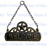 Welcome Wall Plaque With Star on Chain