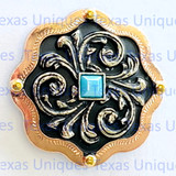 Belle's Copper Finish 1 Inch Concho
