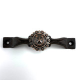 Western Horseshoe Star Cast Iron Door Or Gate Handle