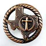 State Of Texas with Cross  Antique Copper Finish Cabinet Knob