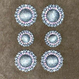 Crystal Berry Concho Antique Silver Plated Saddle Set