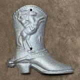 Western Cowboy Cast Iron Decor Boot
