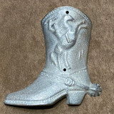 Western Cowboy Cast Iron Wall Decor Boot
