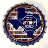 Texas Decorative Metal Wall Hanging Bottle Cap Texas Cowboy Country